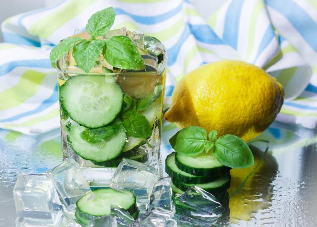 Cucumber-Basil Lemonade with Lemongrass: