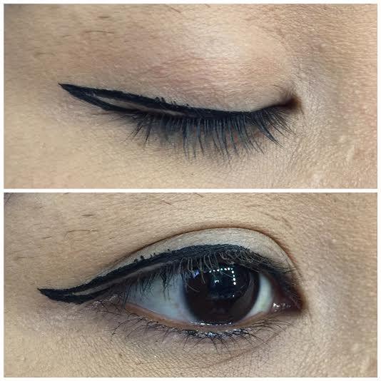 Winged eyeliner step by step final, sorry