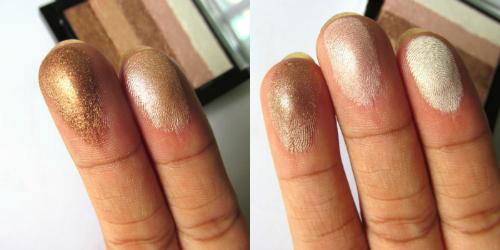 Makeup Revolution London Radiant Shimmer Brick Palette finger swatch