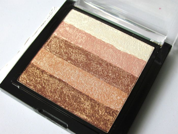 Makeup Revolution London Radiant Shimmer Brick Palette texture