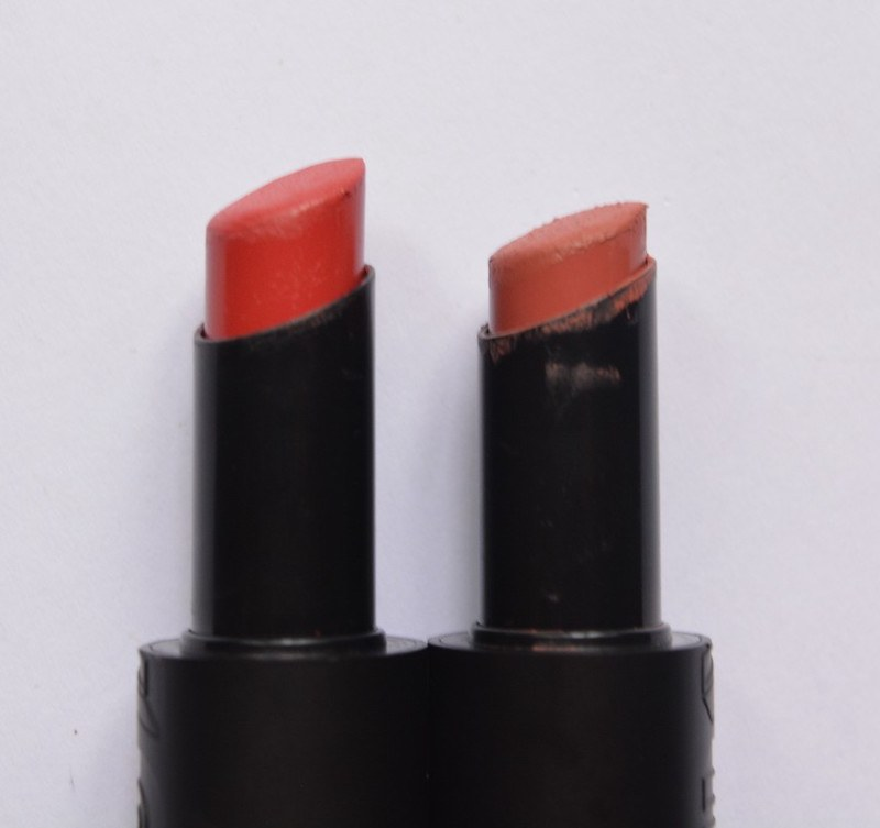 Buxom Big and Sexy Bold Gel Lipstick Sinful Cinnamon and Evocative petal