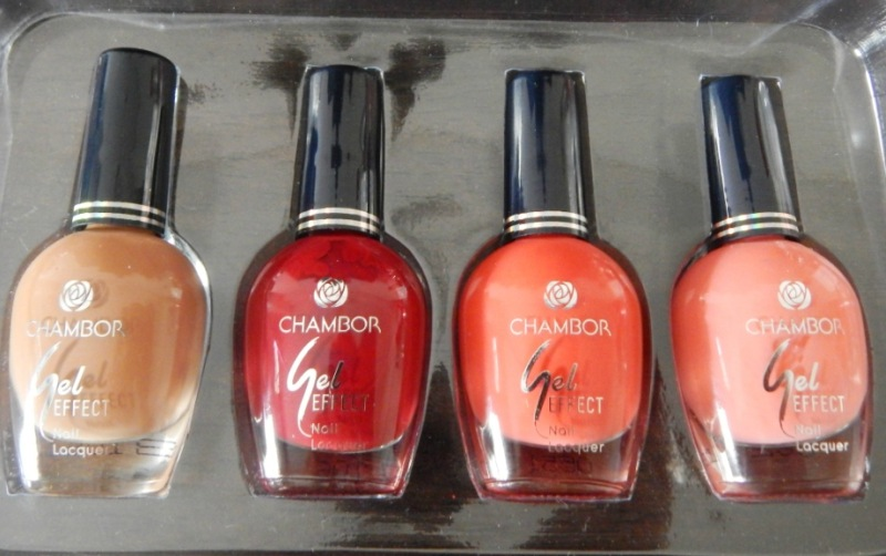 Chambor Gel Effect Nail Lacquer 103, 304, 209, 104 Review and Swatches