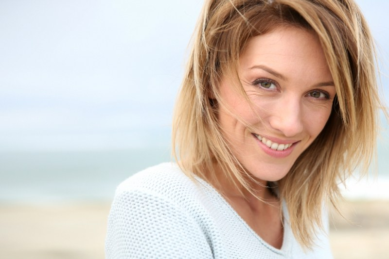 Portrait of beautiful 40-year-old blond woman