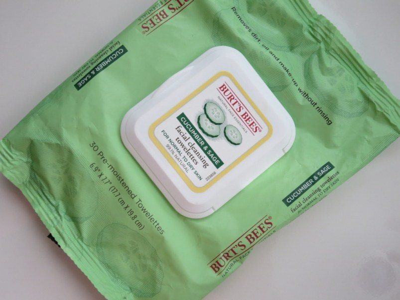 Burts Bees Cucumber and Sage Facial Cleansing Towelettes Review
