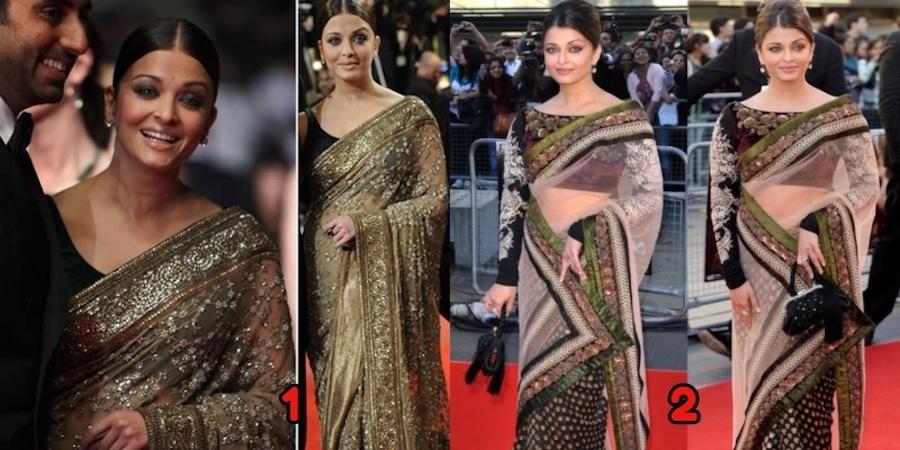 Best Saree Designs Of Aishwarya Rai