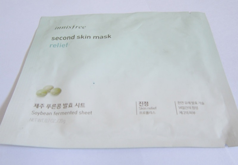 Innisfree Second Skin Mask Relief Review
